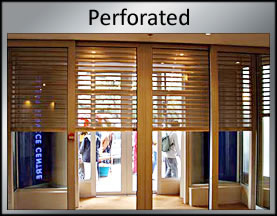 perorated roller shutter